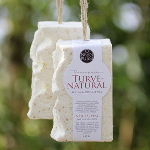 Natural Peat Salt Soap on a Rope