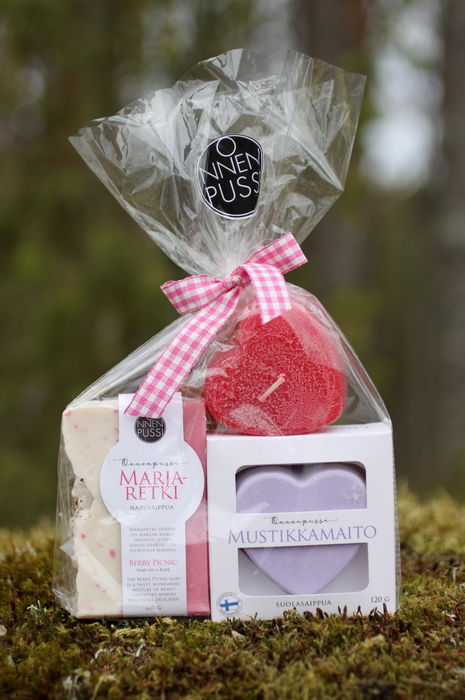 Soap & Candle gift set, Berry Boost